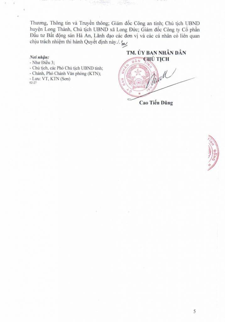 pháp lý dự án Gem Sky World Long Thành - Hà An 92 hecta