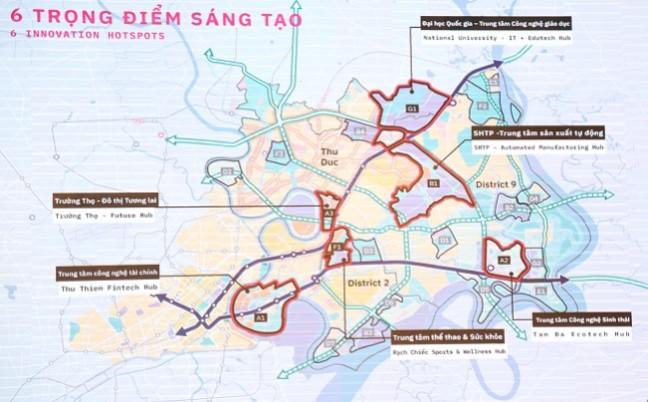 quy hoạch hành chính phía Đồng TP. HCM 5.2020