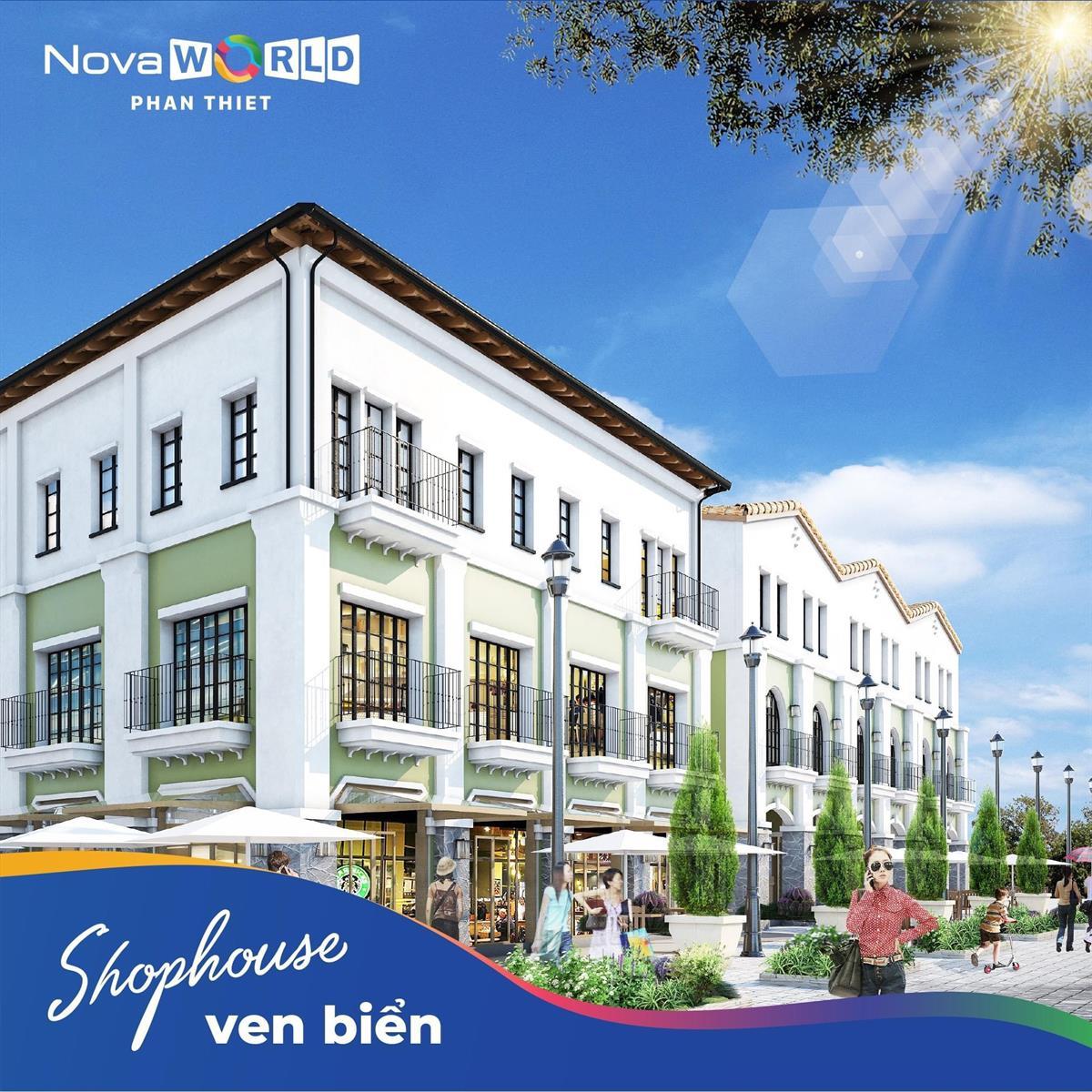 Mẫu Shophouse NovaWorld Phan Thiết mặt tiền Lạc Long Quân