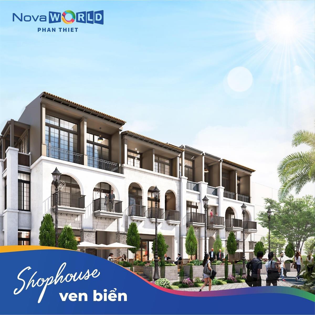 Mẫu Shophouse 2 NovaWorld Phan Thiết mặt tiền Lạc Long Quân