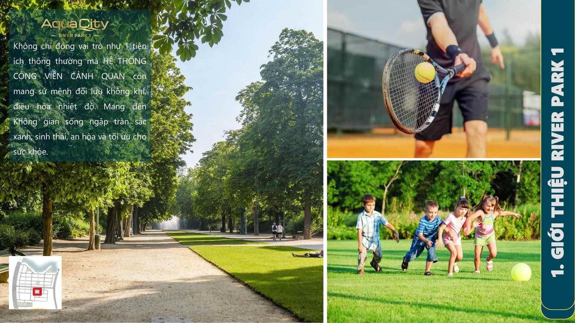Khu thể dục thể thao, tennis, đá bóng