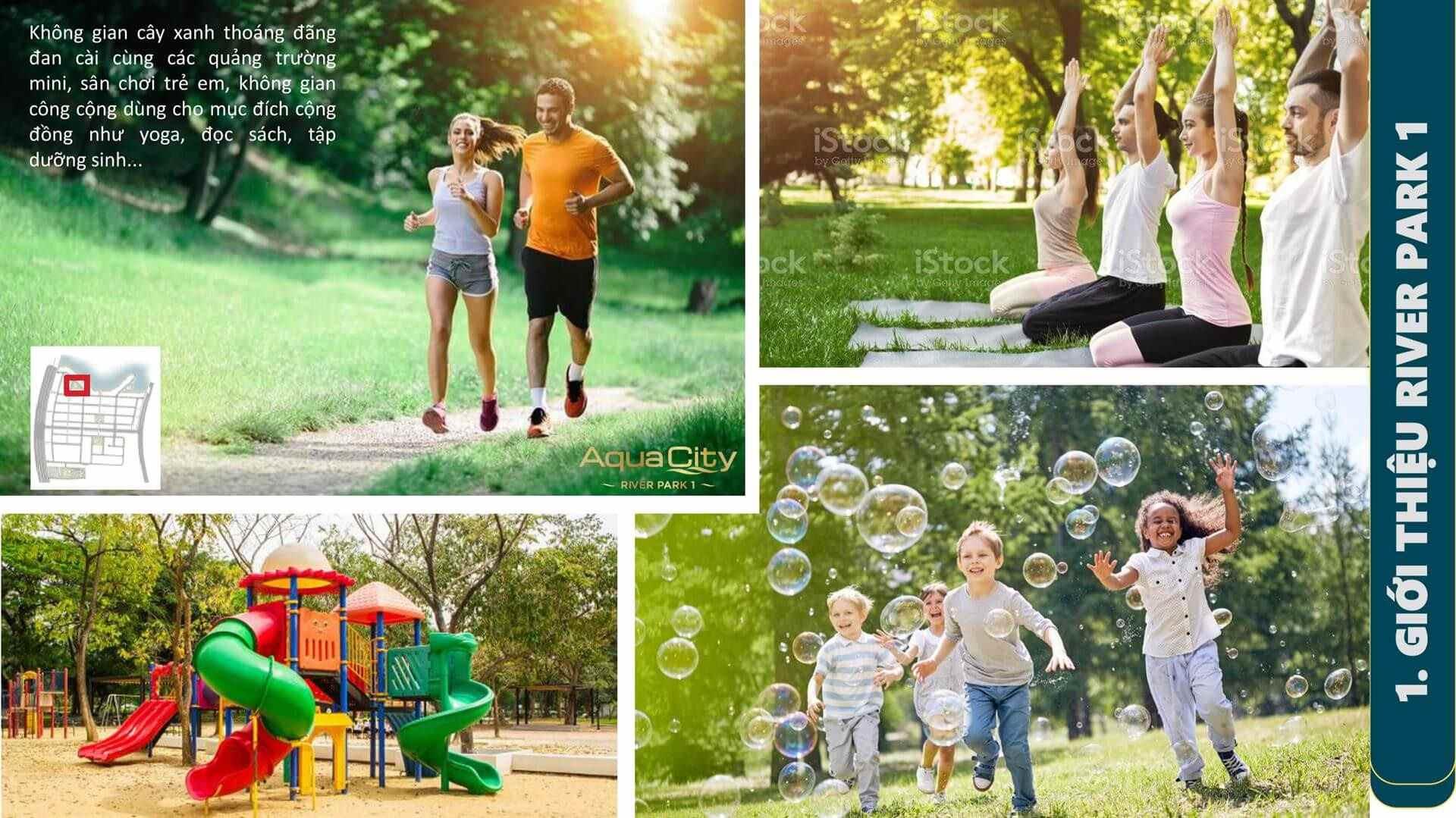 Cây Xanh công viên bao phủ dày đặc - không khí trong lành