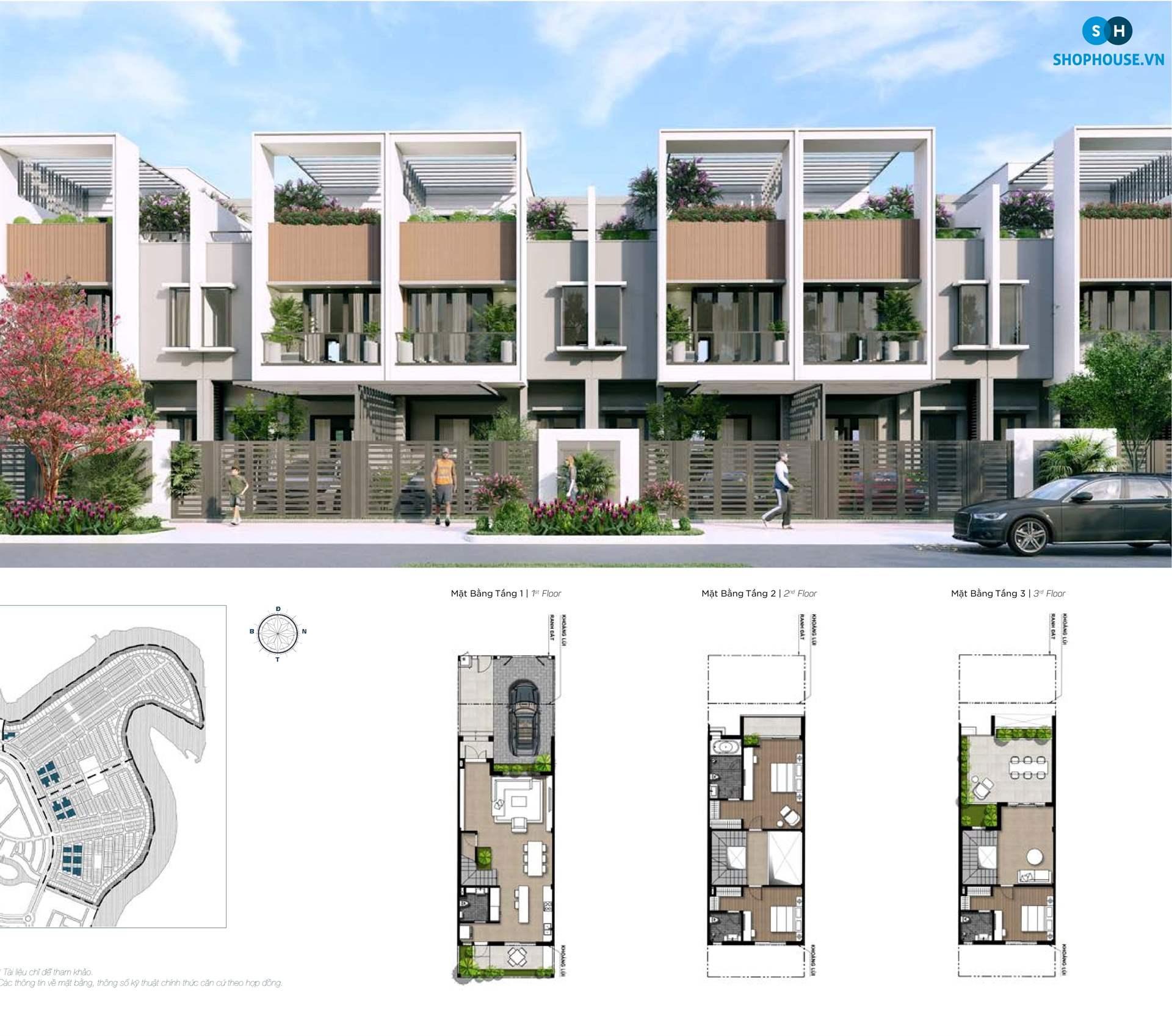 mat-bang-delux-green-house-phoenixsouth-Aqua-City-Dao-Phuong-Hoang-nha-pho-6x20