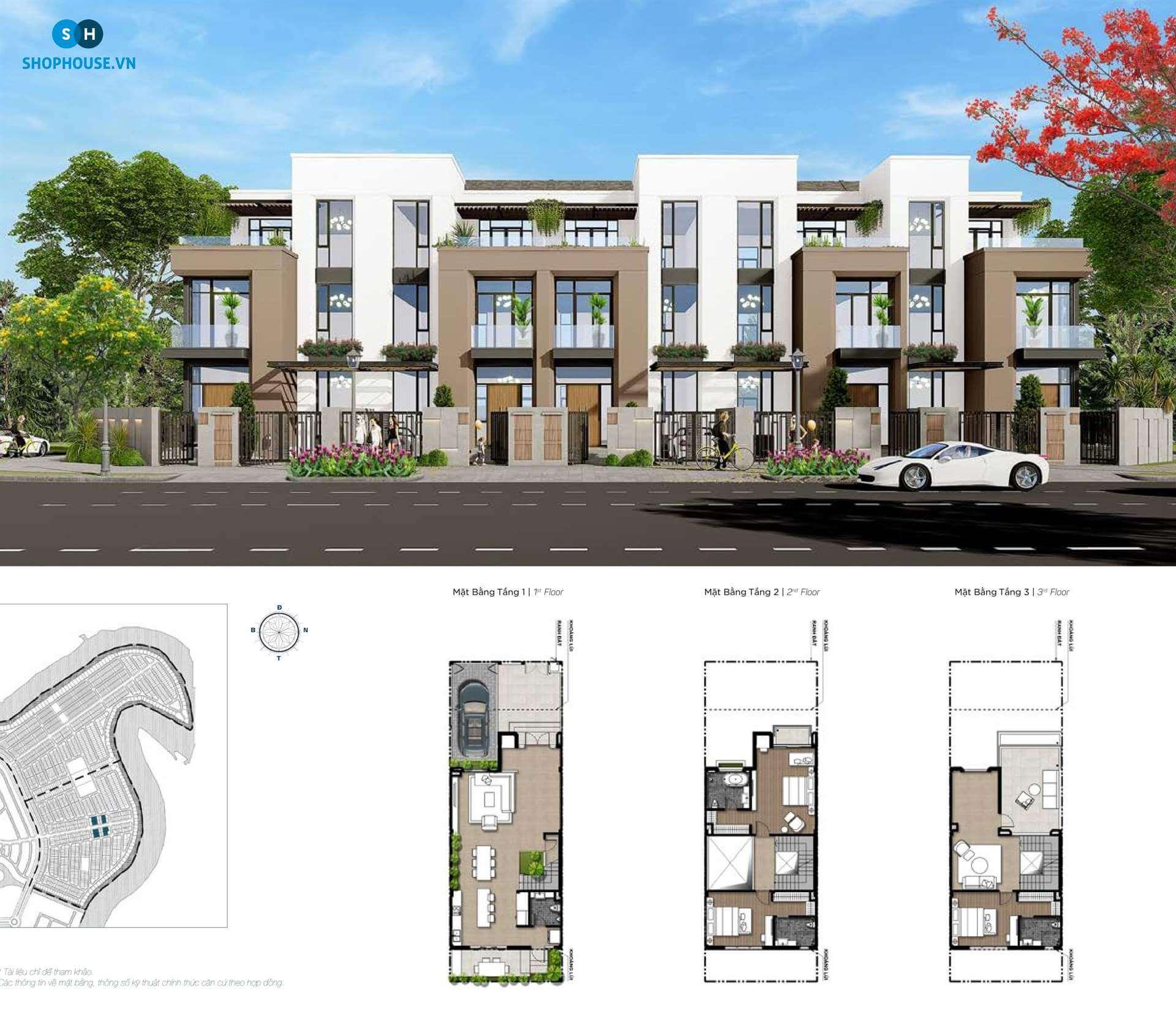 mat-bang-delux-green-house-phoenixsouth-Aqua-City-Dao-Phuong-Hoang-nha-pho-7x20