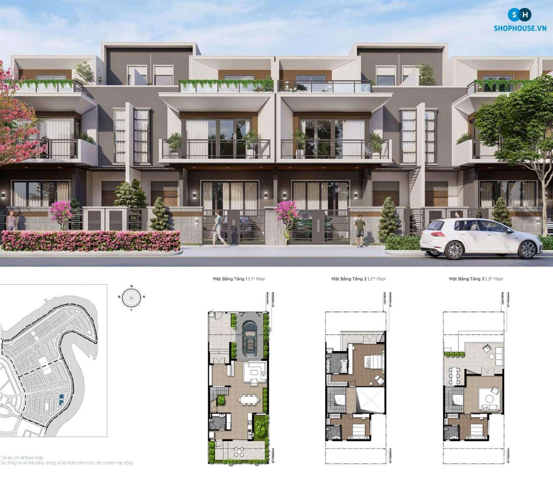 mat-bang-delux-green-house-phoenixsouth-Aqua-City-Dao-Phuong-Hoang-nha-pho-8x20