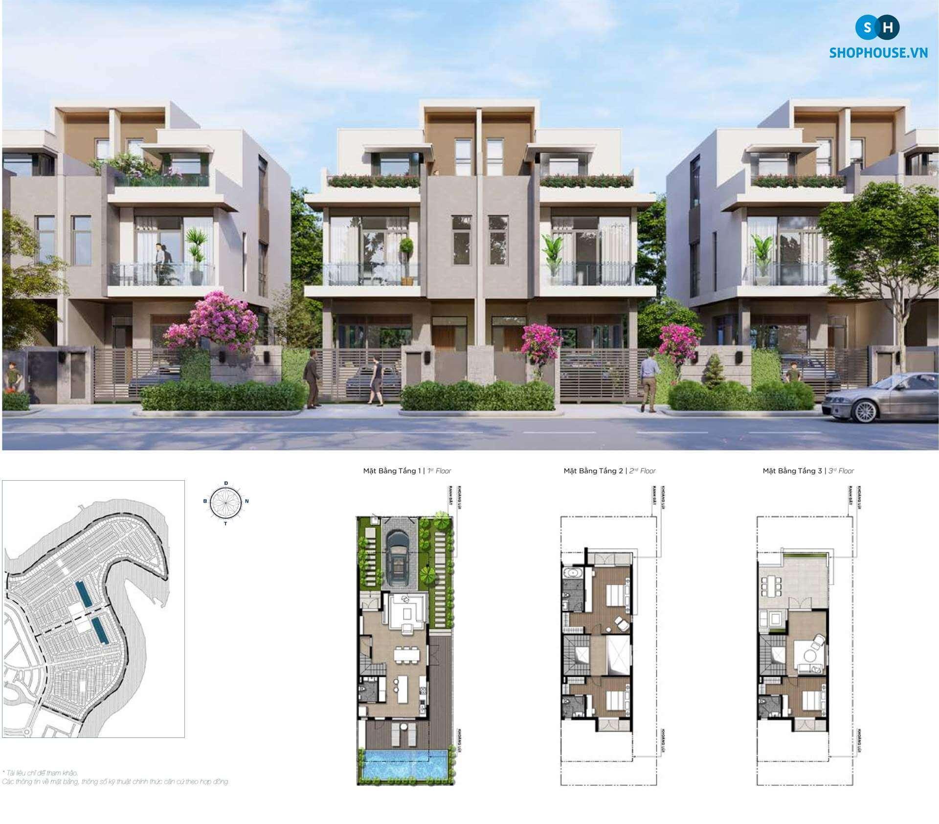 mat-bang-premium-green-villa-phoenixsouth-Aqua-City-Dao-Phuong-Hoang-biet-thu-8x22.5-SV1